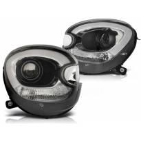 Комплект тунинг ксенонови фарове за Mini Cooper R60/R61 Countryman 2010-2014 с черна основа , ляв и десен
