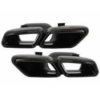 Черни накрайници тип AMG за Mercedes S класа W222, E класа W212, CLS W218, SL R231
