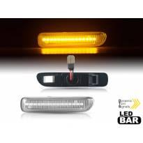 Комплект динамични LED странични мигачи за BMW серия 3 E46 купе, кабриолет 1998-2006 с хром основа, ляв + десен