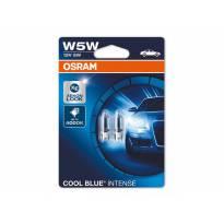 Комплект 2 броя халогенни крушки Osram W5W Cool Blue Intense 12V, 5W, W2.1x9.5d