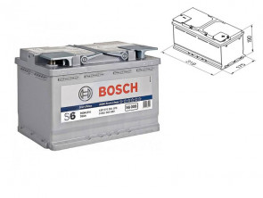Акумулатор BOSCH AGM-technology S6 12V 70Ah 760 A с десен (+)