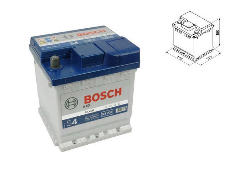 Акумулатор BOSCH Silver S4 12V 42 Ah 390 A с десен (+)