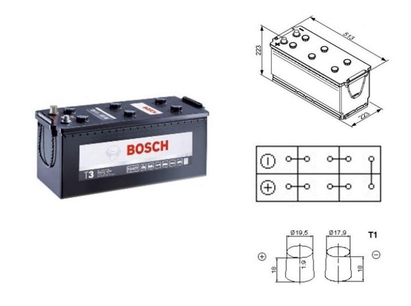 Акумулатор BOSCH TECMAXX 12V 180Ah 1100 A с десен (+)