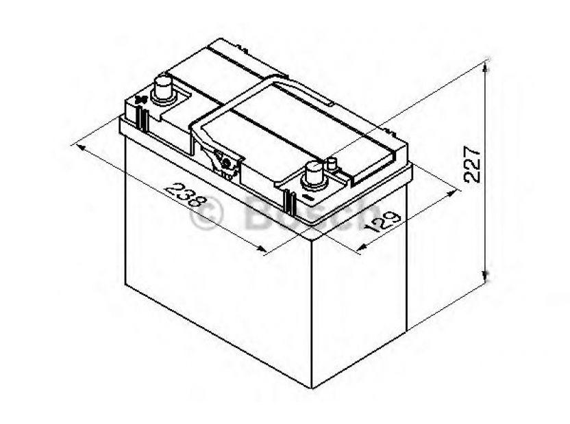 Акумулатор BOSCH Silver S4 12V 45Ah 330 A с тънки полюси - с ляв (+) АЗИЯ - 1