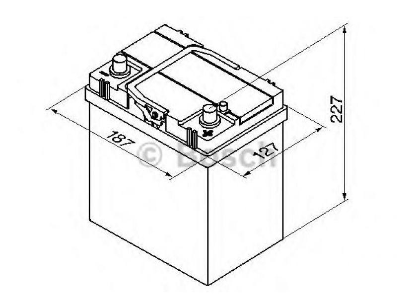 Акумулатор BOSCH Silver S4 12V 40Ah 330 A с тънки полюси с десен (+) АЗИЯ - 2