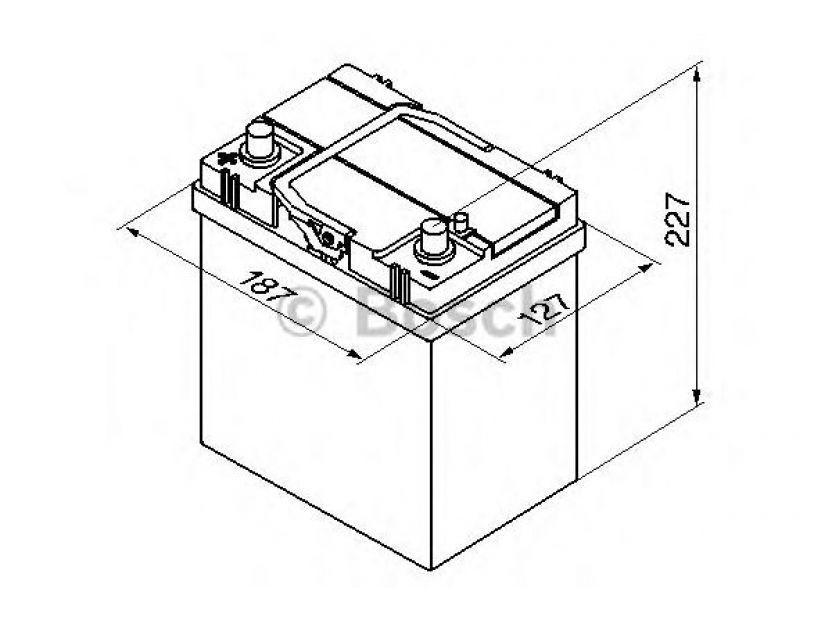 Акумулатор BOSCH Silver S4 12V 40Ah 330 A с тънки полюси с ляв (+) АЗИЯ - 1