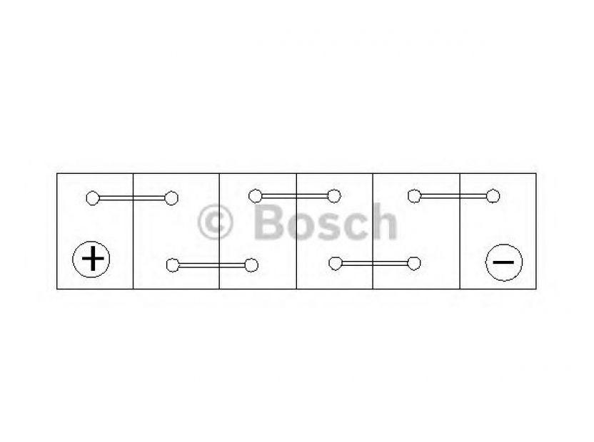 Акумулатор BOSCH Silver S4 12V 40Ah 330 A с тънки полюси с ляв (+) АЗИЯ - 3