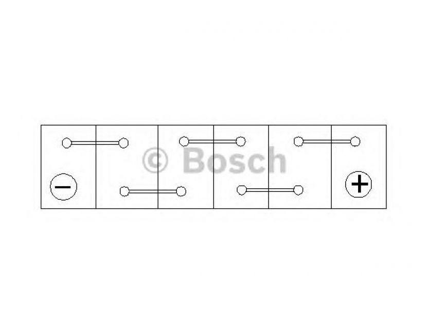 Акумулатор BOSCH Silver S4 12V 45Ah 330 A с тънки полюси с десен (+) АЗИЯ - 2