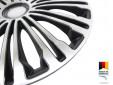 "Декоративни тасове PETEX 16"" Volante black/silver, 4 броя 5"