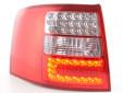 Тунинг LED стопове за Audi A6 комби 1997-2004 с бял мигач 5