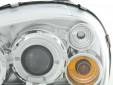 Тунинг фарове с ангелски очи и лупи за Opel Corsa B 1993-2000 с хром основа 5