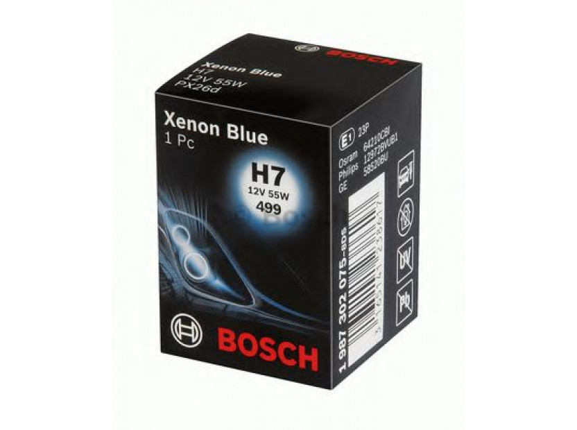 Halogen Light Bulb by Bosch H7 Xenon Effect 12V, 55W, PX26d, 1 piece