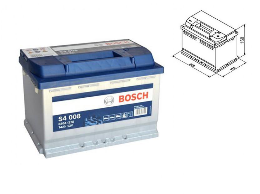 Акумулатор BOSCH Silver S4 12V 74Ah 680 A с десен (+)