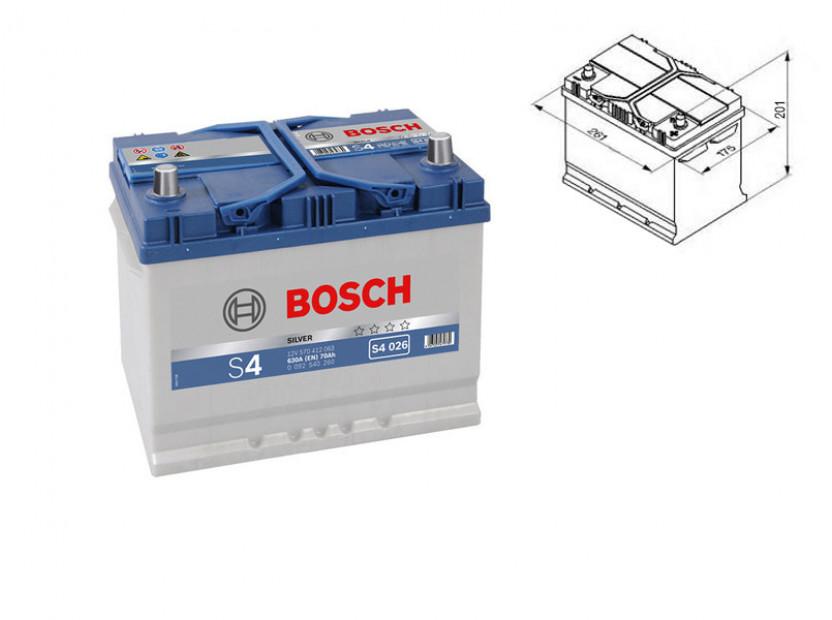 Акумулатор BOSCH Silver S4 12V 70Ah 630 A с десен (+) АЗИЯ