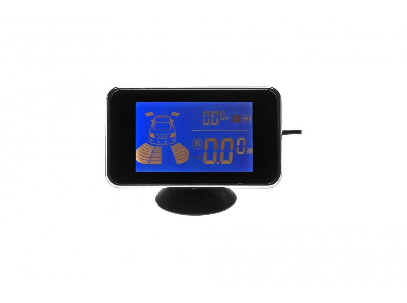 Парктроник система с 2,5 инча двоен LCD дисплей с 6 черни датчика 7