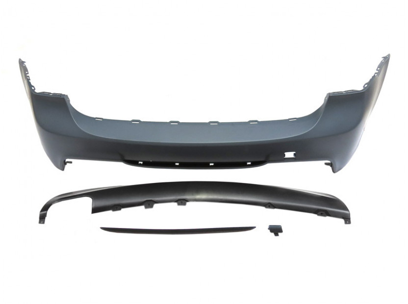 M Technik Rear Bumper for BMW 3 series E91 2005-2011 station wagon without PDC/1 diffuser/2 tips -oo----