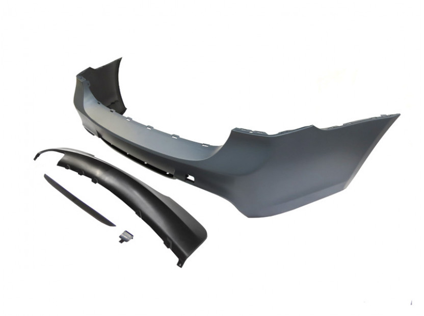 M Technik Rear Bumper for BMW 3 series E91 2005-2011 station wagon without PDC/1 diffuser/2 tips -oo---- 2