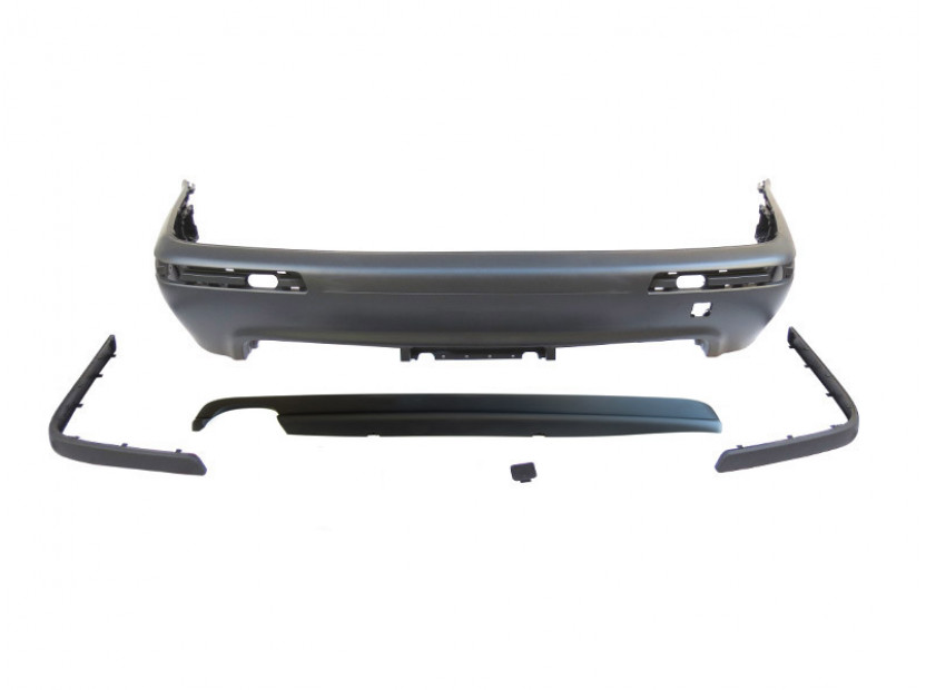M Technik Rear Bumper for BMW 5 series E39 1995-2003 sedan without PDC/1 diffuser/2 tips -oo----