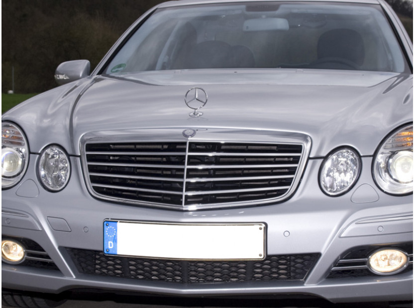 Avantgarde Chrome/Black grille for Mercedes E class W211 2006-2009 4