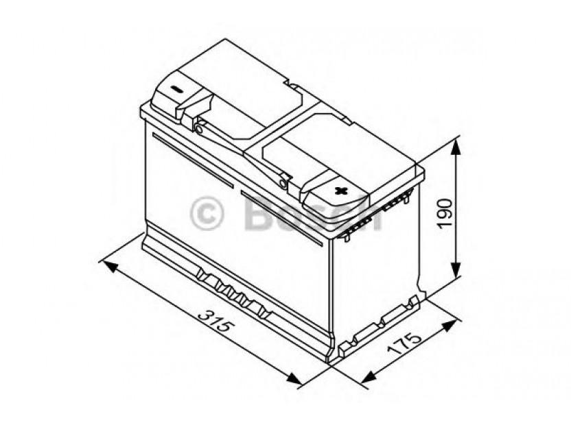 Акумулатор BOSCH Silver S4 12V 80Ah 740 A с десен (+) 2