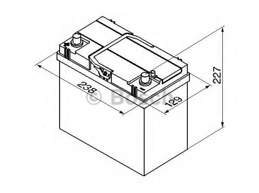 Акумулатор BOSCH Silver S4 12V 45Ah 330 A с ляв (+) АЗИЯ 2
