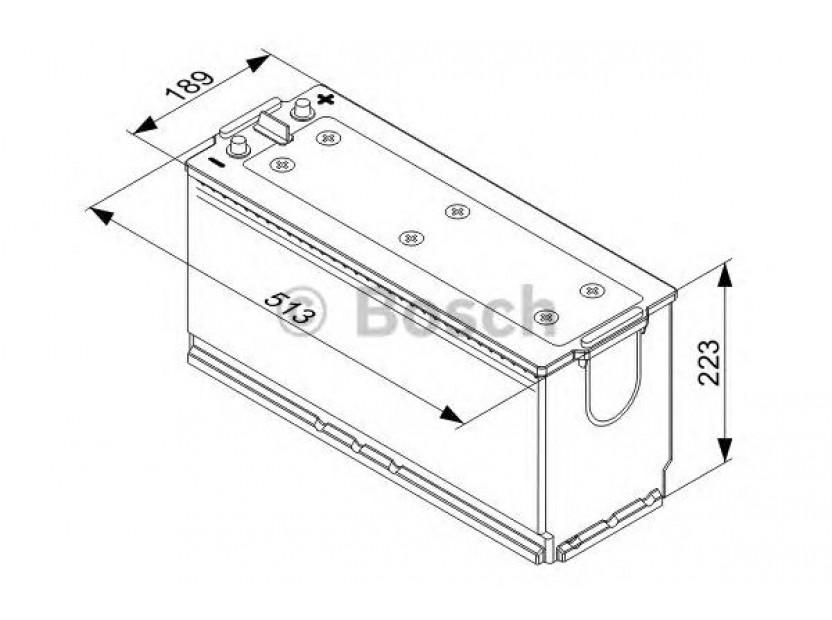 Акумулатор BOSCH TECMAXX 12V 140Ah 800 A с с ляв (+) 2