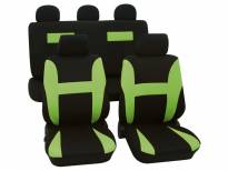 Universal Eco-Class Seat Covers by Petex, Neon model, Green colour, 11 pieces