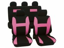 Universal Eco-Class Seat Covers by Petex, Neon model, Pink colour, 11 pieces