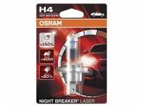 H4 Night Breaker Laser Halogen Light Bulb by OSRAM, 12V, 60/55W, P43t, 1 piece