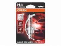 H4 Night Breaker Unlimited Halogen Light Bulb by OSRAM, 12V, 60/55W, P43t, 1 piece