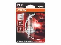 H7 Night Breaker Unlimited Halogen Light Bulb by OSRAM, 12V, 55W, PX26d, 1 piece