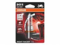 H11 Moto Night Racer Halogen Light Bulb by OSRAM 110, 12V, 55W, PGJ19-2, 1 piece
