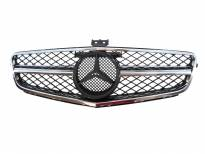 AMG Chrome/Black grille for Mercedes C class W204 2007-2014