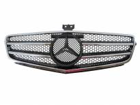 AMG Chrome/Black grille for Mercedes C class W204 after 2007