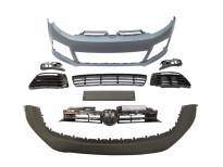R20 Front Bumper for VW GOLF VI 2008-2013 without PDC/DRL not included/с черна решетка/with washer cover cap