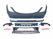 AMG Rear Bumper S65 type for Mercedes S class W222 after 2014 with PDC/2 diffuser/2 tips -oo--oo-
