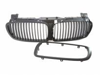 Black matt grilles for BMW 7 series E65 2006-2008