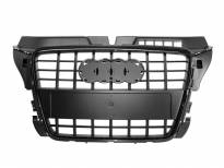 S8 Black lacquer grille for Audi A3 2009-2011 without PDC