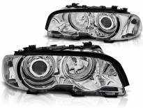 Комплект тунинг фарове с CCFL ангелски очи за BMW 3 E46 04.1999-03.2001 купе/кабрио , ляв и десен