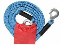Синьо въже за теглене Petex с карабинерни куки 4 метра до 3000кг.