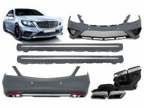 AMG bodykit type S63 for Mercedes S class W222 after 2013 year for long base