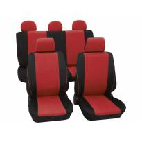 Universal Eco-Class Seat Covers by Petex, Borneo model, Red colour, 11 pieces