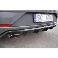 Дифузьор Maxton Design за задна тунинг броня за Seat Leon Mk3 Cupra след 2017 година, черен мат