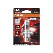 H4 Night Breaker Laser Halogen Light Bulb by OSRAM, 12V, 60/55W, P43t, 1 piece