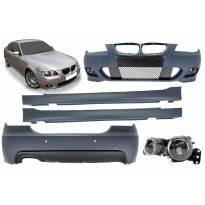 M technik II пакет за BMW серия 5 E60 седан 2003-2007 с PDC,с халогени, с единичен дифузьор за двоен накрайник -оо-----