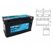 Акумулатор Deta Start & Stop AGM 95Ah 850 A с десен (+)