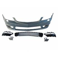 AMG Front Bumper S65 type for Mercedes S class W221 2006-2013 with PDC/DRL not included/ with washer cover cap