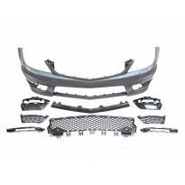AMG Front Bumper C63 type for Mercedes C class W204 2011-2014 sedan/station wagon with PDC/DRL not included/ with washer cover cap