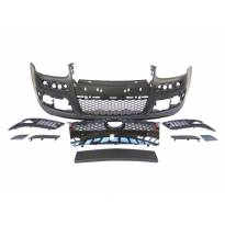 GTi Front Bumper for VW GOLF V 2003-2008 without PDC/halogens not included/с черна решетка/with washer cover cap
