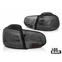 Комплект LED стопове за VW Golf 6 2008-2012, опушена основа, ляв и десен